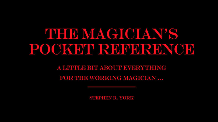 MAGICIAN'S POCKET REFERENCE