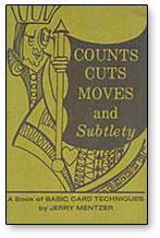 COUNTS CUTS MOVES AND SUBTLETY