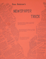 NEWSPAPER TRICK--GENE ANDERSON'S TORN & RESTORED