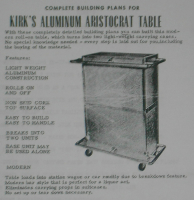 KIRK'S ALUMINUM ARISTOCRAT TABLE