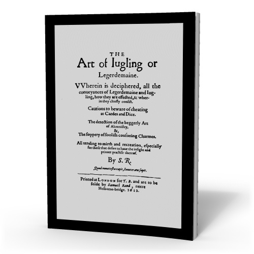 ART OF JUGLING OR LEGERDEMAINE