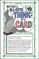 ALL-OUTS THINK OF A CARD--MILT KORT