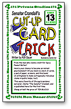 CUT-UP CARD TRICK--SENATOR CRANDALL