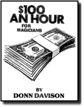 $100 AN HOUR FOR MAGICIANS