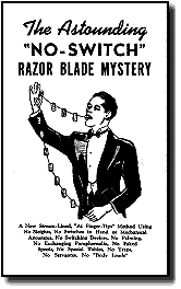 ASTOUNDING NO SWITCH RAZOR BLADE MYSTERY
