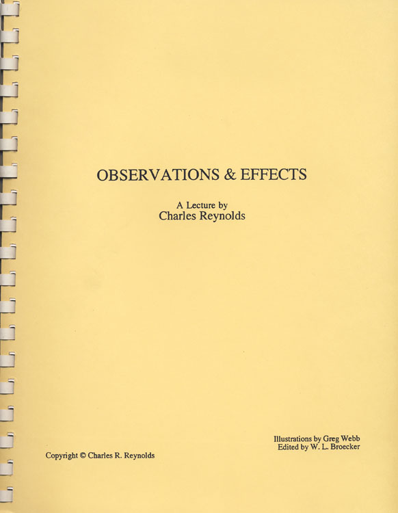 OBSERVATIONS & EFFECTS