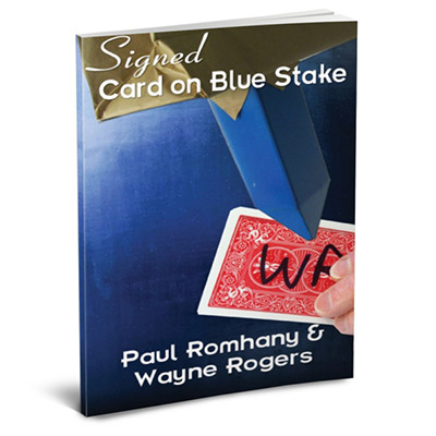 SIGNED CARD ON BLUE STAKE