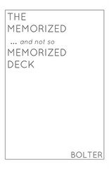 MEMORIZED…AND NOT SO MEMORIZED DECK