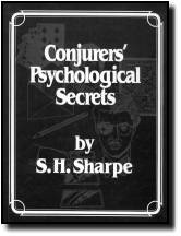 CONJURER'S PSYCHOLOGICAL SECRETS