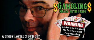 GAMBLING MOVES WITH CARDS--3 DVD SET