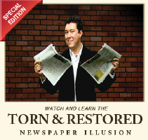 TORN & RESTORED NEWSPAPER ILLUSION