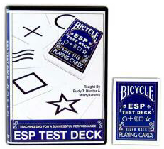 BICYCLE ESP TEST DECK DVD W/DECK