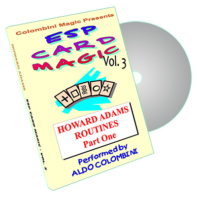 ESP CARD MAGIC VOL.  3--HOWARD ADAMS ROUTINES, PART 1