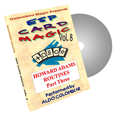 ESP CARD MAGIC VOL.  8--HOWARD ADAMS ROUTINES, PART 3