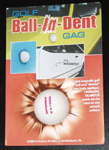 GOLF BALL IN DENT