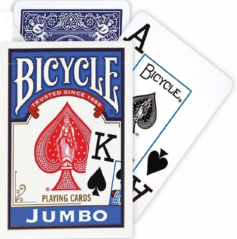PLAYING CARDS--BICYCLE, BLUE JUMBO INDEX
