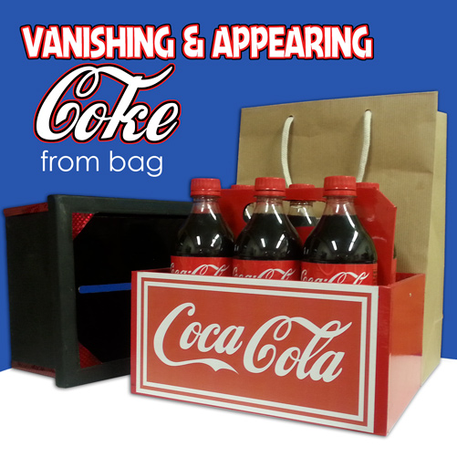 VANISHING AND REAPPEARING 6 COKE BOTTLES