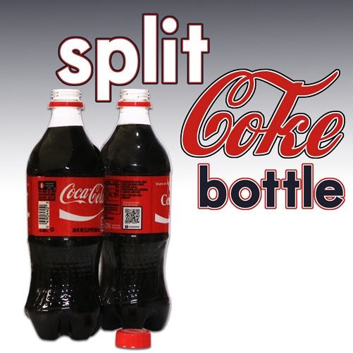 SPLIT COKE BOTTLE--20 OZ., PLASTIC
