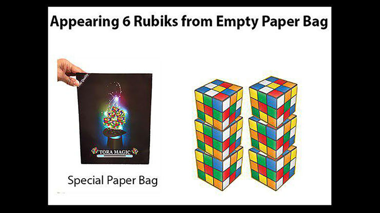 APPEARING 6 RUBIKS FROM EMPTY PAPER BAG