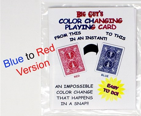 COLOR CHANGING PLAYING CARD--RED TO BLUE