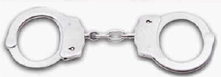 HANDCUFFS--DOUBLE LOCK NICKEL PLATED