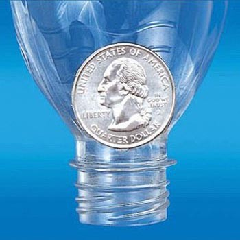 COIN IN BOTTLE--FOLDING QUARTER