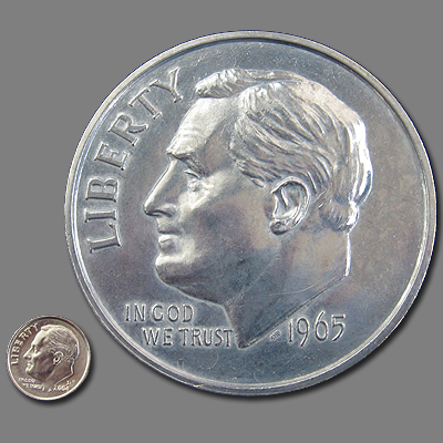 GIANT 3-INCH ROOSEVELT DIME