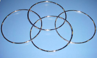 "LINKING RINGS--8"" STAINLESS STEEL"