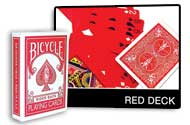 PLAYING CARDS--BICYCLE RED DECK