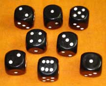 LOADED DICE--SET OF 8