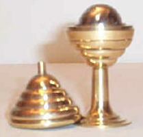 BALL & VASE--SOLID BRASS