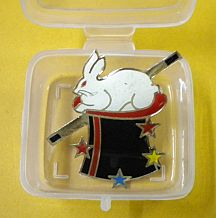 LAPEL PIN--RABBIT IN HAT