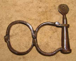 HANDCUFFS--ANTIQUE STYLE, 8's