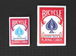 BICYCLE DECK--MINI, RED