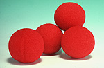 "SPONGE BALLS, 4--SUPER SOFT 2"", RED"