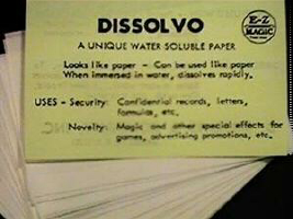 DISSOLVO SPY PAPER--LARGE SHEETS