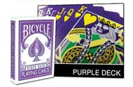 PLAYING CARDS--BICYCLE PURPLE DECK