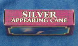 APPEARING CANE--STAINLESS STEEL, SILVER