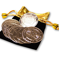PALMING COINS--MAGIC WISHING COINS
