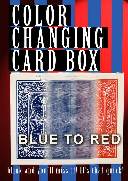 FLASH COLOR CHANGING CARD BOX