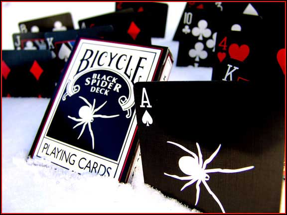 PLAYING CARDS--BICYCLE BLACK SPIDER