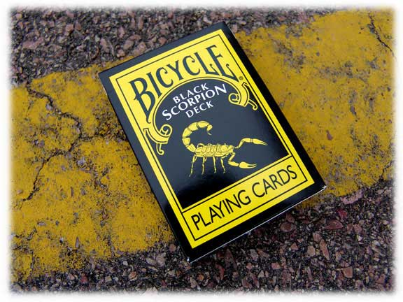 PLAYING CARDS--BICYCLE BLACK SCORPION