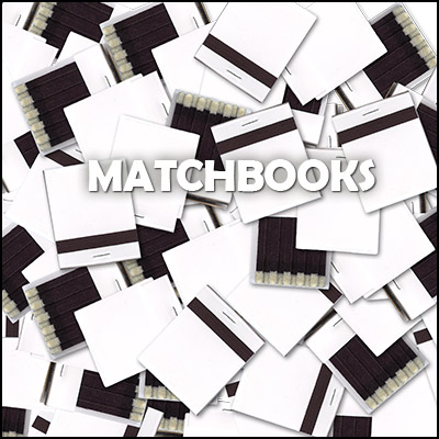 MATCHBOOKS, WHITE--PACKAGE OF 50