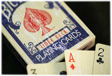 PLAYING CARDS--BICYCLE 1800, POKER--BLUE