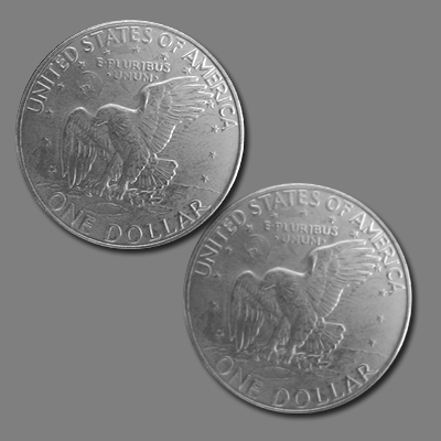 TWO TAILED EISENHOWER DOLLAR