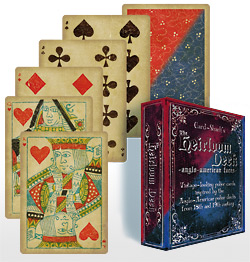 HEIRLOOM DECK, ANGLO FACES--BLUE