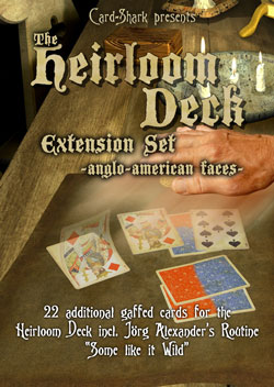 HEIRLOOM DECK EXTENSION SET, FRENCH FACES--BLUE