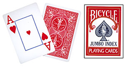 PLAYING CARD--BICYCLE, RED JUMBO INDEX