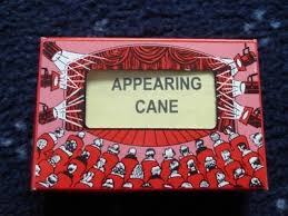 APPEARING CANE--PLASTIC, WHITE