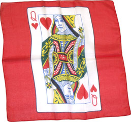CARD SILK--QUEEN OF HEARTS, 18""